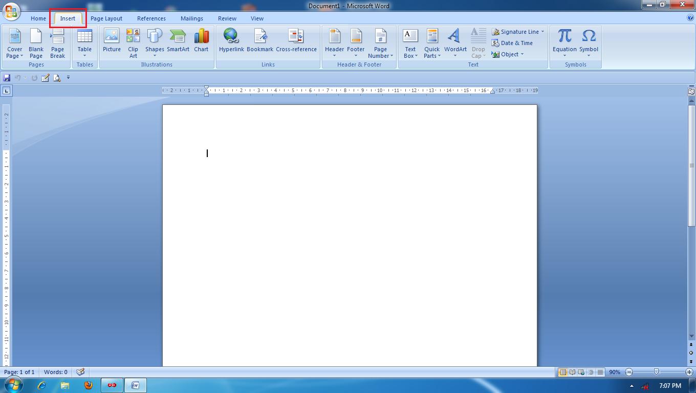 ... menu dibawahnya seperti gambar di bawah ini, kemudian klik menu table