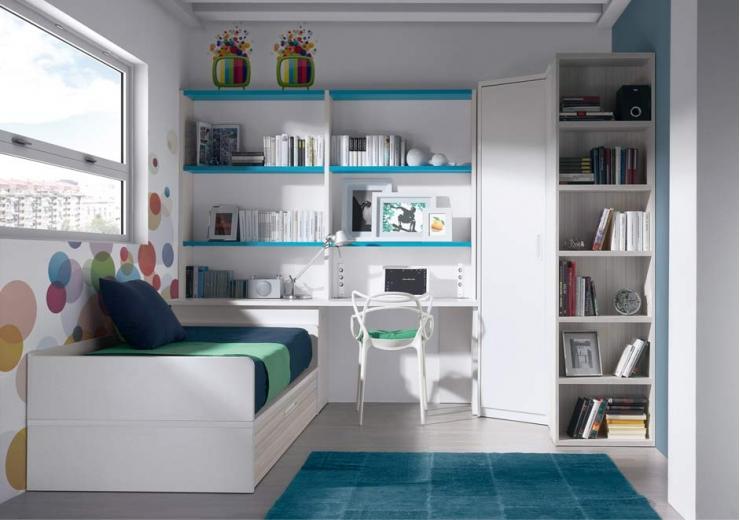 Dormitorios juveniles economicos for Escritorio rinconera ikea