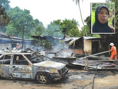rumah terbakar panggil bomba