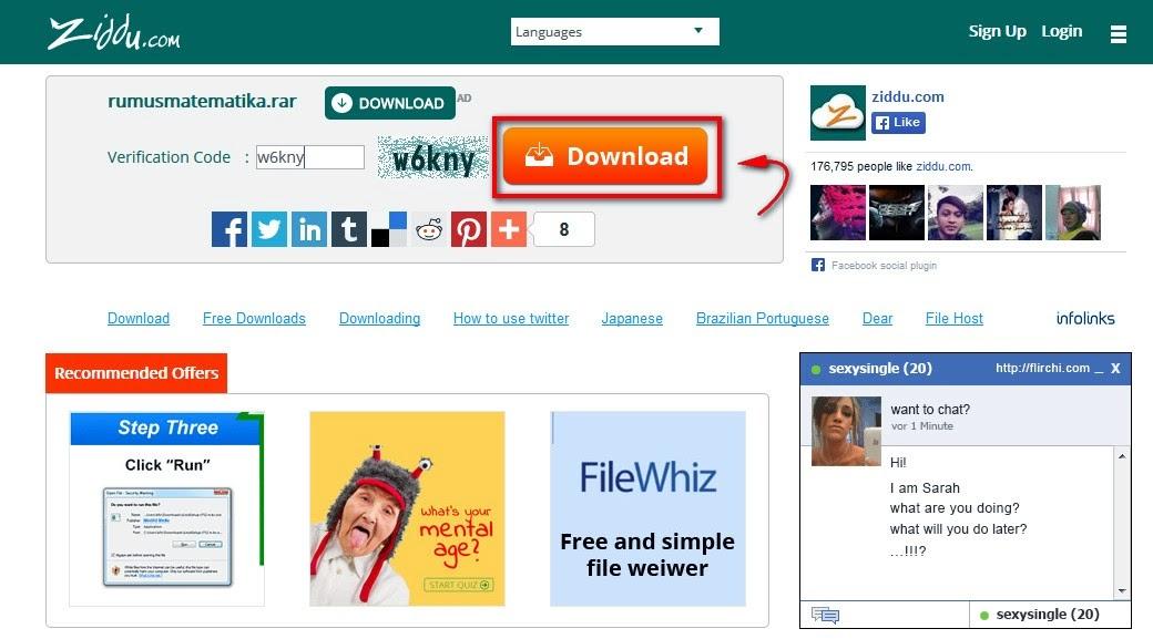 download File di Ziddu yang Benar