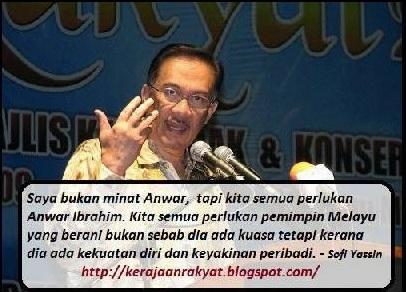 Sofi Yassin kerajaan rakyat to Anwar Ibrahim