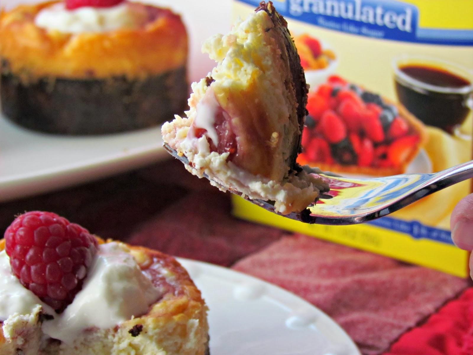 Raspberry Marbled Mini Cheesecakes with SPLENDA No calorie Sweetener # ...