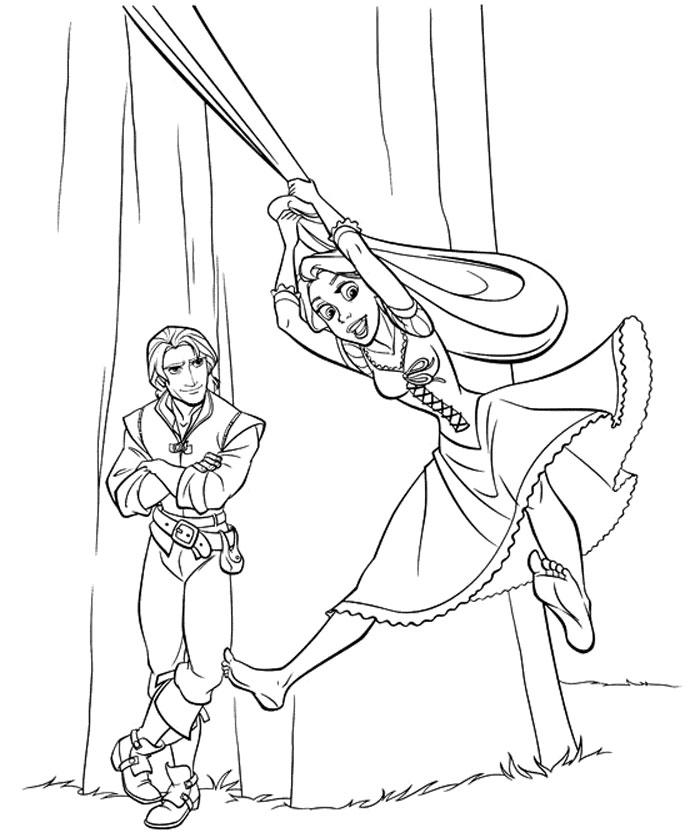 Kids Under 7: Tangled - Rapunzel Coloring Pages