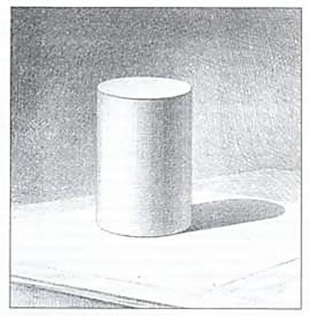 Рисунок цилиндра с тенью