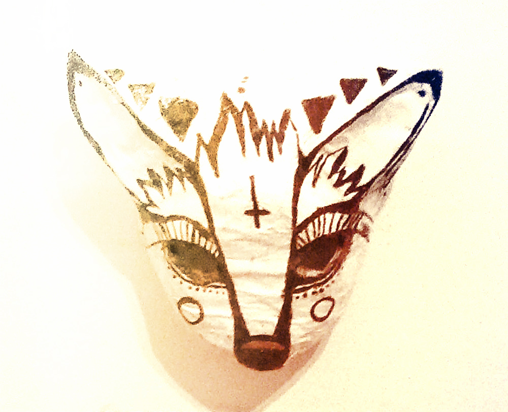 Coyote Trickster Mask Kelly Peyton Reno Nevada