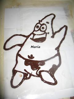 Bizcocho con Patricio de chocolate