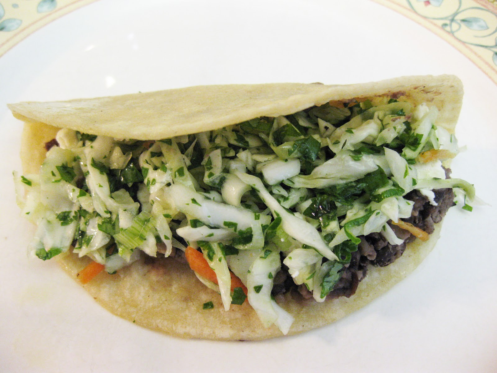 Bloatal Recall: Black Bean Tacos with Feta and Cabbage Slaw