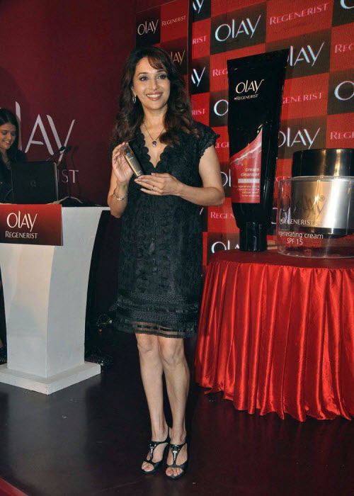 madhuri dixit in black event shoot