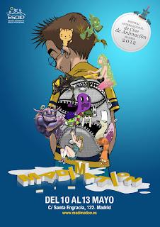 Cartel del Festival Internacional de Cine de Animación MADIMATION 2012