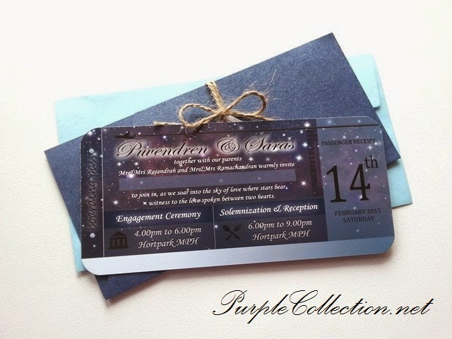 Boarding pass wedding card dark blue white theme wedding invitation card malaysia printing personalised personalized handmade stopboris Image collections