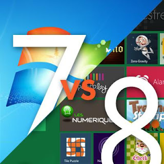 Main Differences between windows7 furthermore windows8