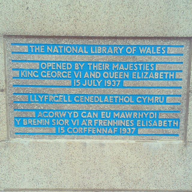 National Library of Wales sign