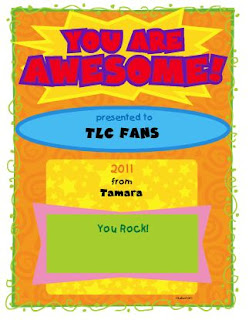 teaching with tlc free award maker