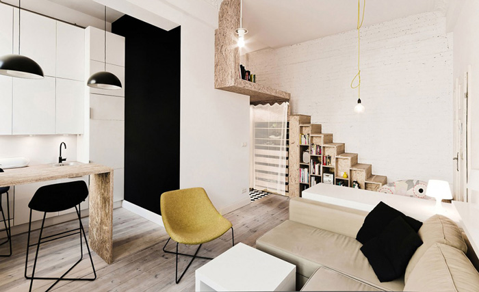 29 square meters apartment 3xa arquitects open plan space