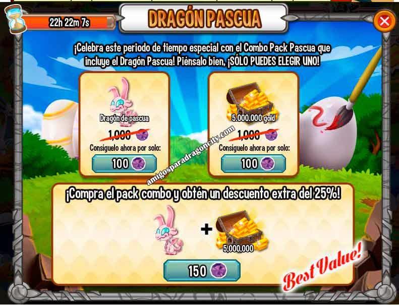 imagen de la oferta especial del dragon pascua de dragon city