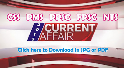 Current affairs Mcqs 2015 for css, pms, ppsc & fpsc Exams