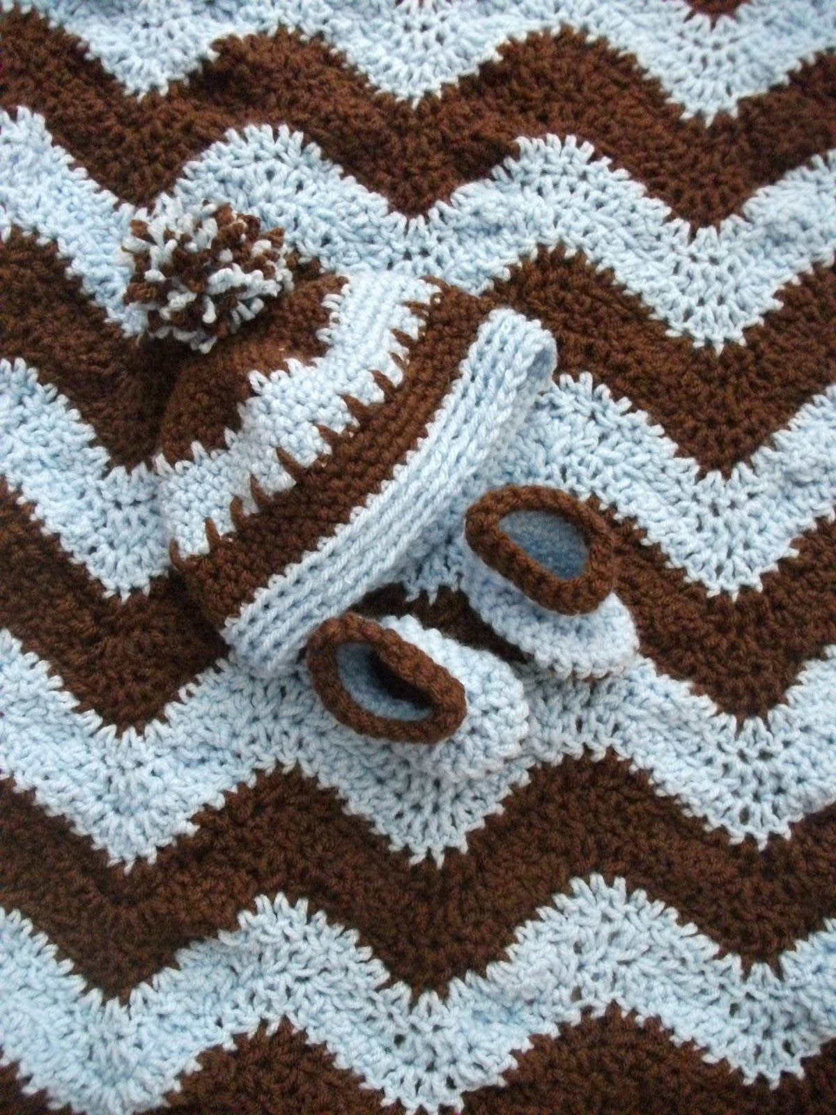 Free Crochet Ripple Afghan Patterns Baby Blanket