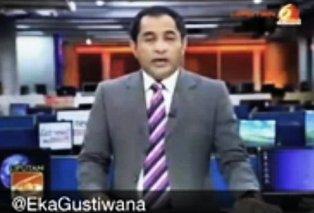 Eka Gustiwana buat anchor bernyanyi rap jeremi teti saat bacakan berita SCTV