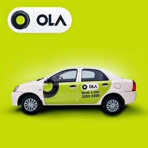 Olacabs provides different types of cab service ranging from economic to luxury travel.  The cabs can be reserved through a web browser or amobile app. This cab service supports both cash and cashless payment options with Ola money. It claims to clock an average of more than 150,000 bookings per day and commands 60 percent of the market share in India.   Book a cab in Lucknow, Indore, Mumbai, Pune, Bangalore, Delhi , Chandigarh, Ahmedabad, Chennai, Hyderabad with one-touch on the ola mobile app