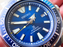 SEIKO SAMURAI SUNBURST BLUE LAGOON DIAL-SEIKO SRPB09-AUTOMATIC 4R35-LIMITED EDITION-BRAND NEW WATCH