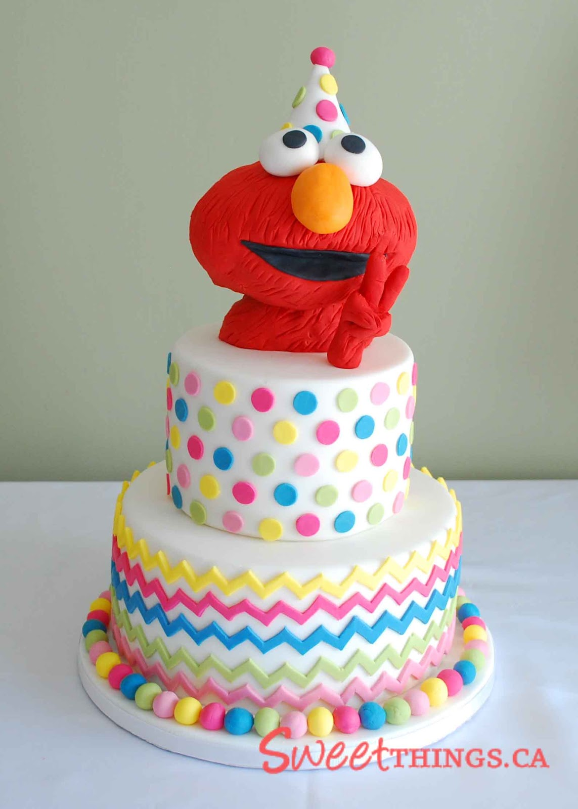 2nd Year Birthday Cake Designs For Baby Girl : SweetThings: 2nd Birthday Cake: Elmo Cake