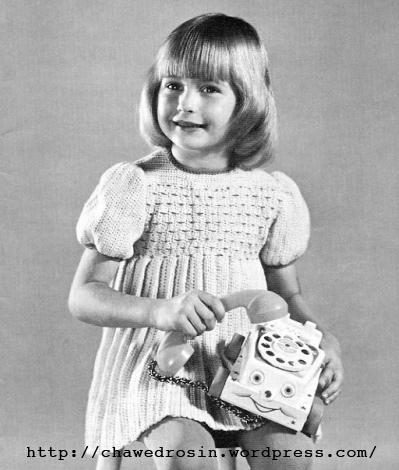 The Vintage Pattern Files 1960s Knitting Smocked Dress For Girls