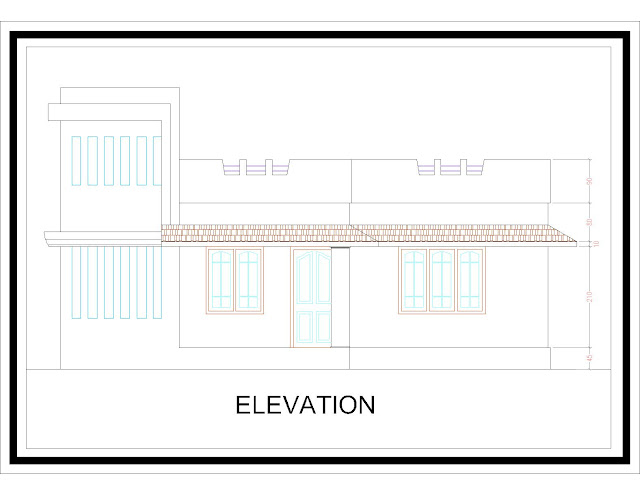 Kerala home plan 3 for Veedu plans and elevations