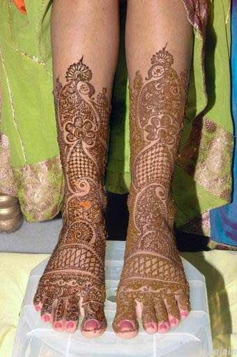Leg Mehndi Design : Mehndi designs for legs beautiful collections