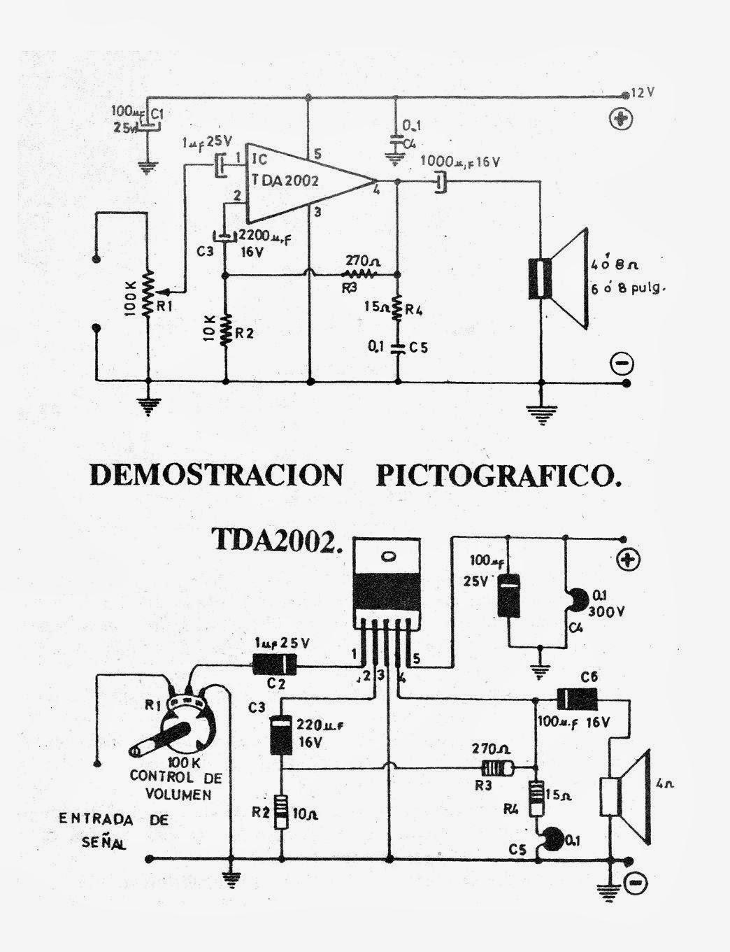 Circuito Amplificador : Electronica diagramas circuitos circuito amplificador wats