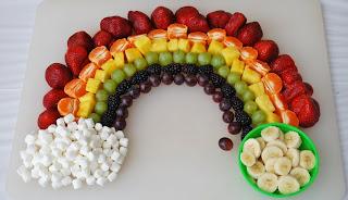 salada de frutas = decorada