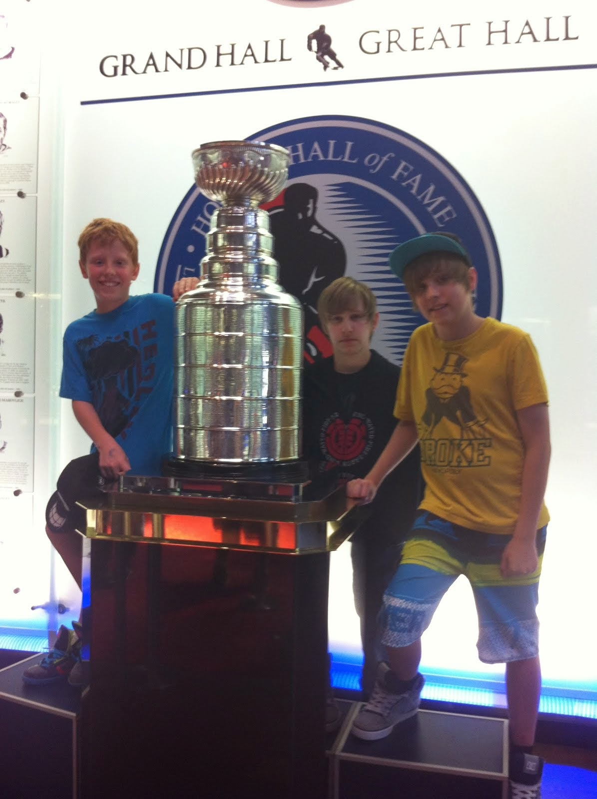 Boys meet the Cup