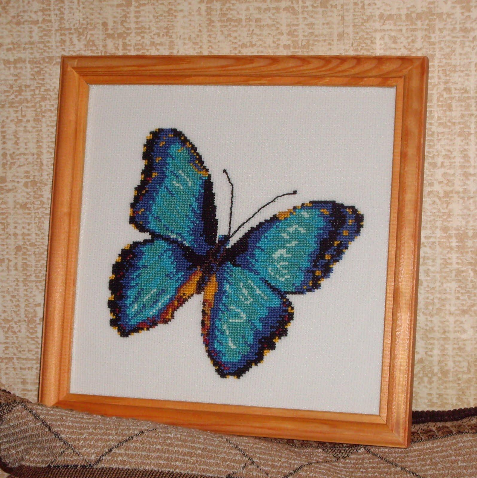Вышивка бабочки от риолис 978