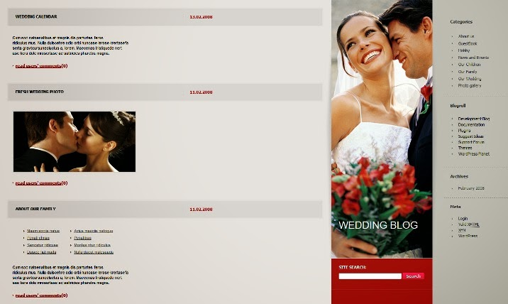 Wedding Album WordPress Theme