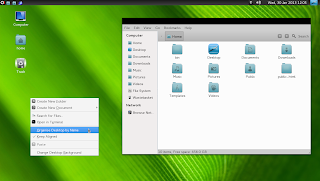 openSUSE 12.2 Manokwari Desktop with icons