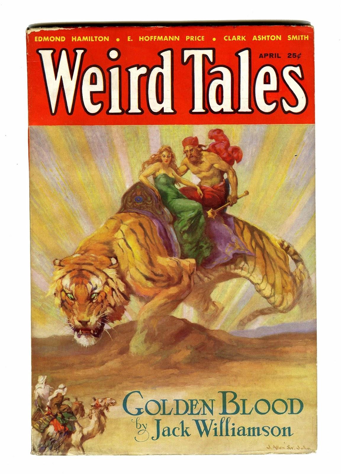 Weird Tales pulp magazine cover by J. Allen St. John