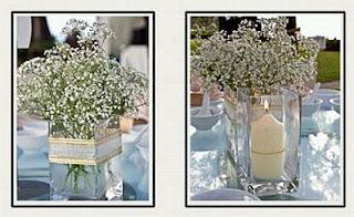 Decoraci n de bodas minimalistas centros de for Centros de mesa para bodas sencillos y economicos
