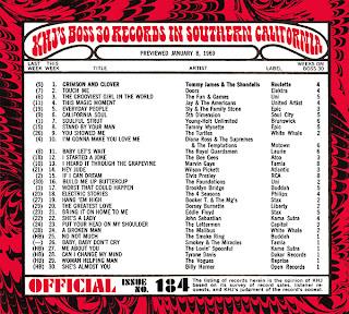 KHJ Boss 30 No. 184 - January 8, 1969