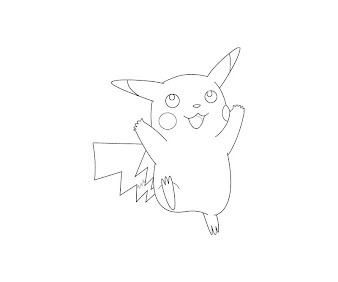 #14 Pikachu Coloring Page