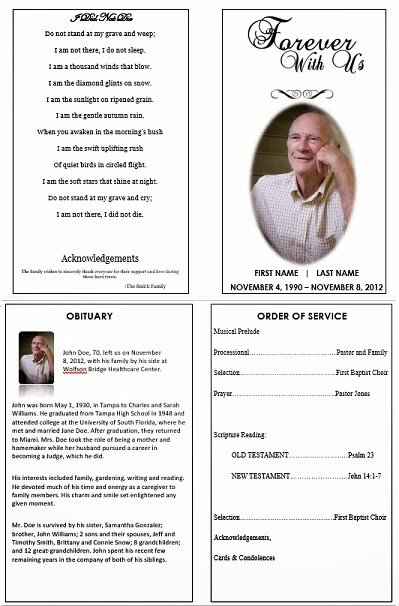 free funeral template microsoft word