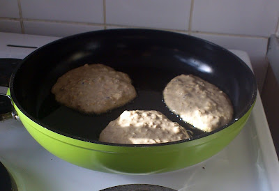 Single Mother Ahoy apple oat raisin pancakes coconut milk