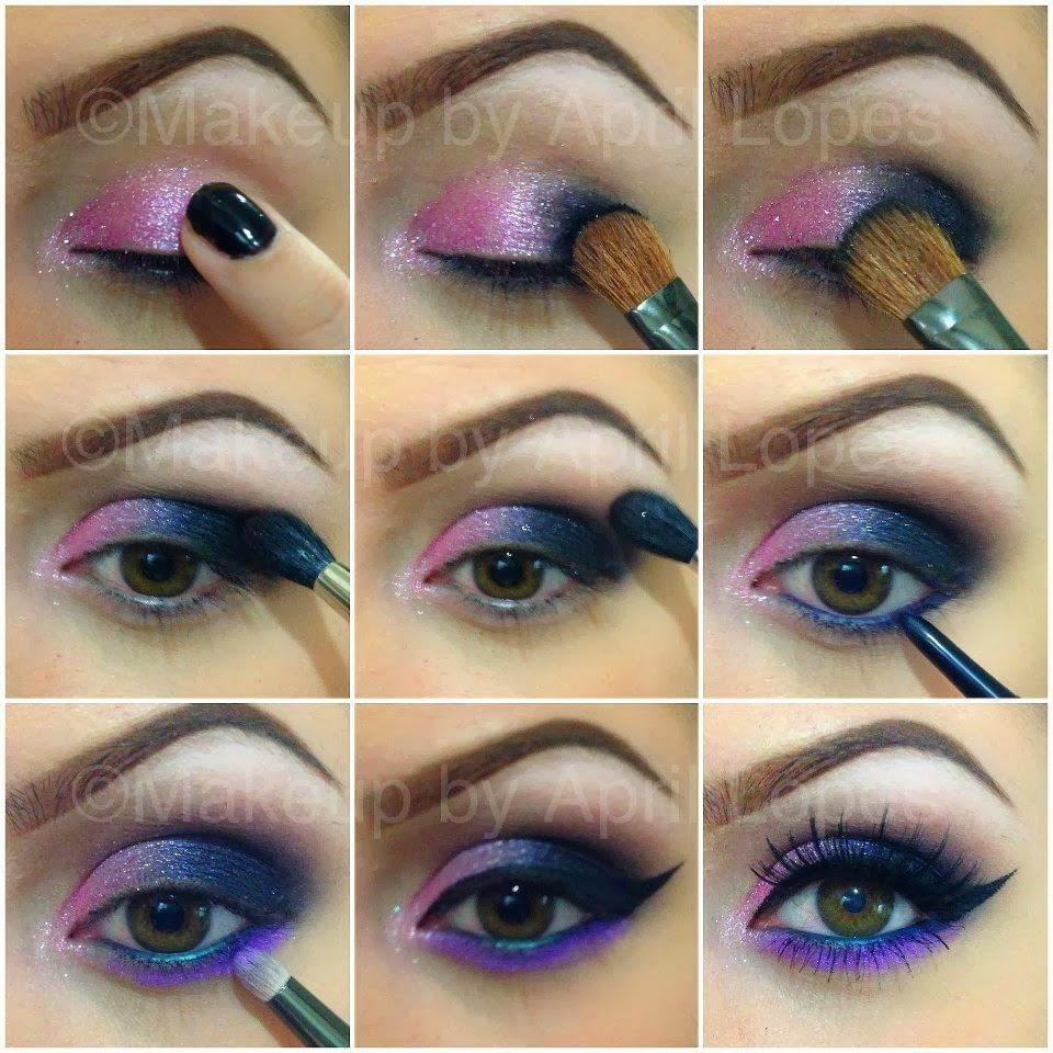 Пошаговый урок макияж глаз