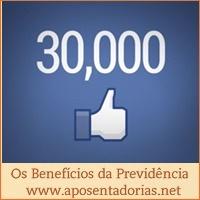 30.000 curtidas no Facebook para os Benefícios da Previdência