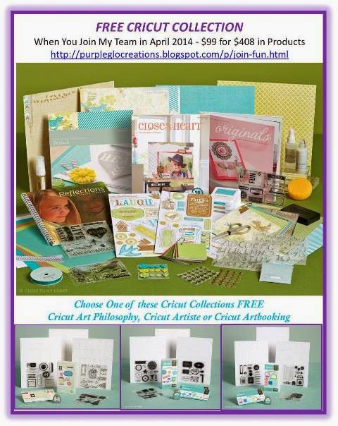 FREE Cricut Collection When You Join My Team April 2014
