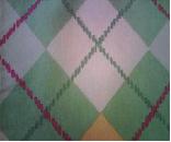 Tecido para sacos - Losangos verdes - Existe também em Rosa