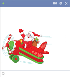 Airplane Santa Emoticon