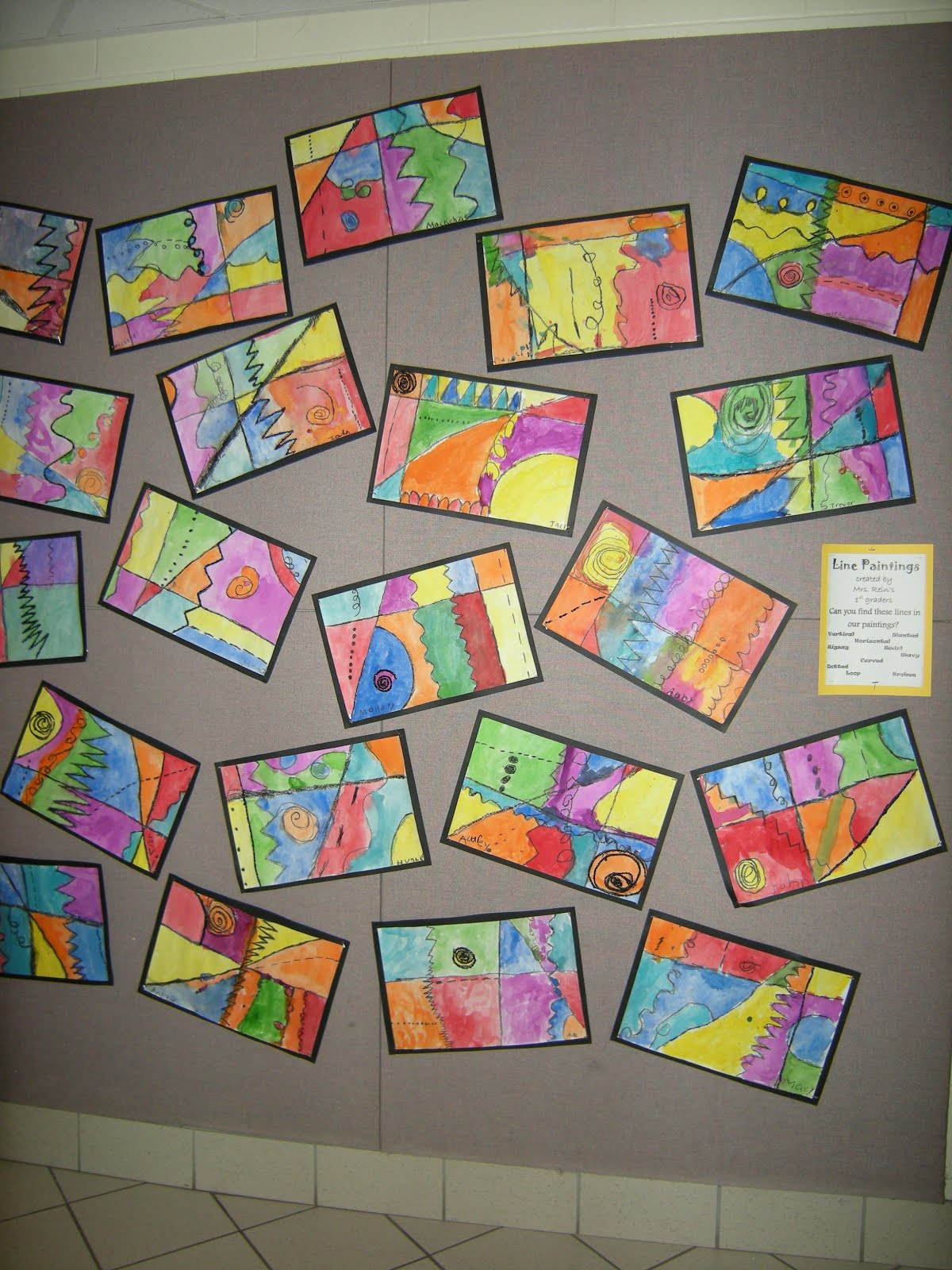 Line Art Year 2 : Artolazzi first grade line paintings