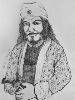 """Raja Tiang Bungkuk dengan keris saktinya""""Sibungkuk""""-http://pangarakan.blogspot.com"""