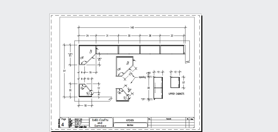 AutoCAD Drafting and Design: Kitchen Sample