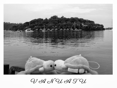 Wedding postcard and table name - Vanuatu