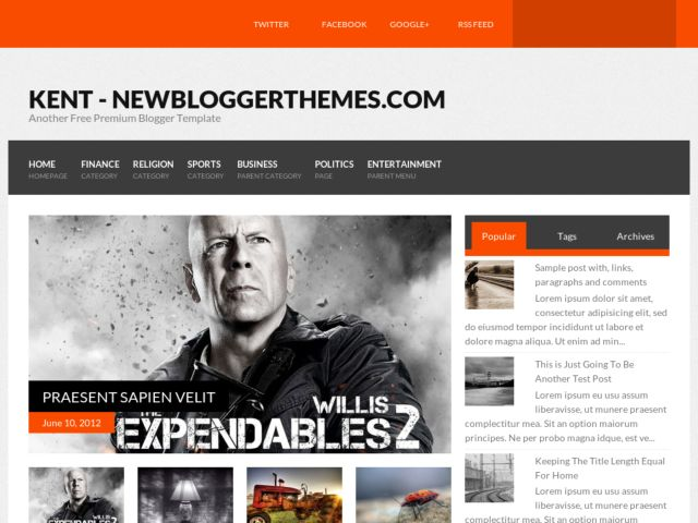 Kent Blogger Template